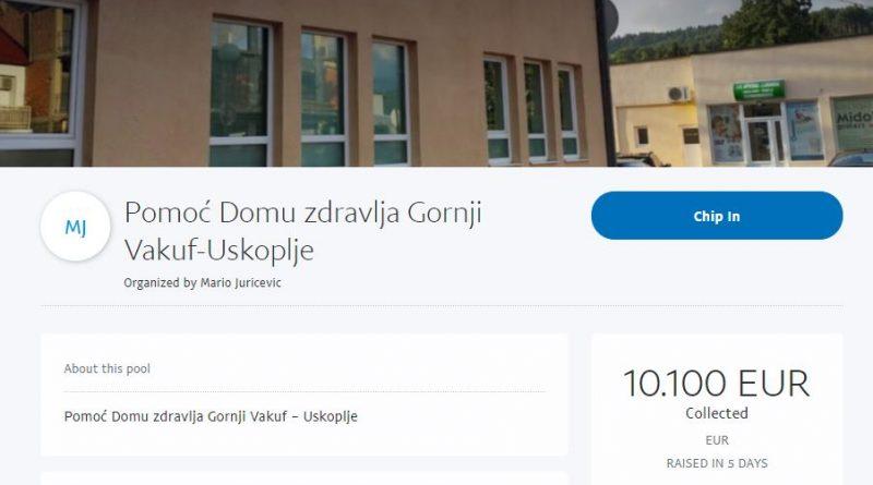 Za Dom zdravlja Gornji Vakuf – Uskoplje do sad donirano 10.000€!